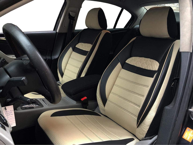 Sitzbezüge K Maniac Für Vw Golf Iv Universal Schwarz Beige Autositzbezüge Set Vordersitze Autozubehör Innenraum Auto Zubehör V2513368 Kfz Tuning Sitzbezug Sitzschoner Auto