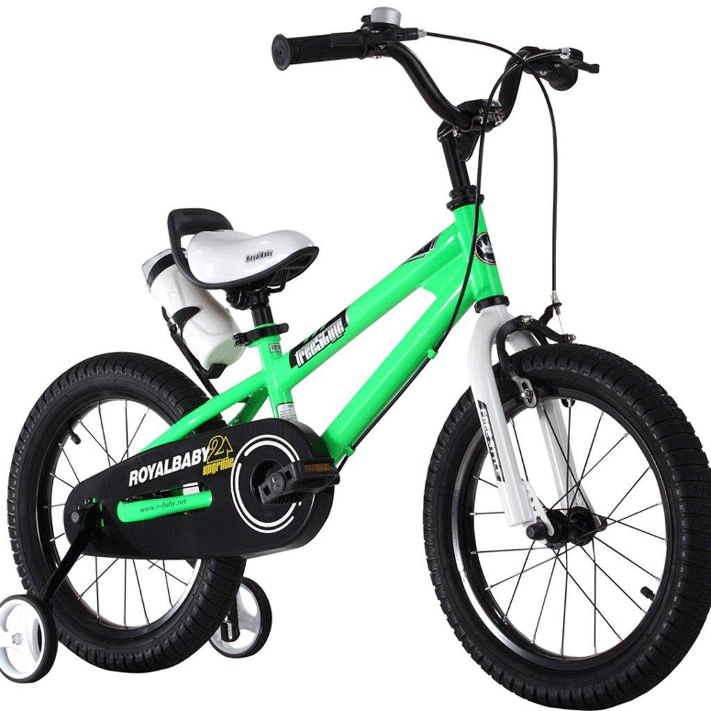 子供の自転車の男の子の女の子の自転車2歳から12歳のベビーキャリアの学生MTB (色 : 緑, サイズ さいず : 14 inches) B07D36XYJ8 14 inches|緑 緑 14 inches