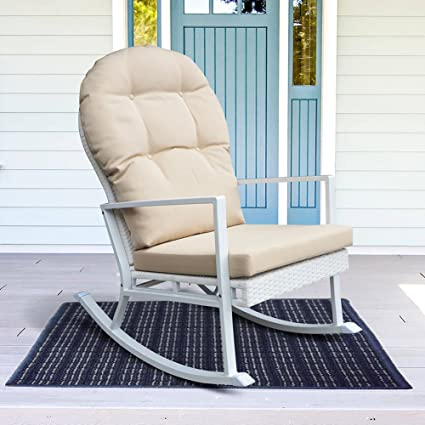 Outdoor Rocking Chair All Weather Porch Deck Chair Outdoor Glider