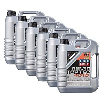 6 x Liqui Moly 3736 Top Tec 4310 aceite de 0 W 30: Amazon.es: Coche y moto