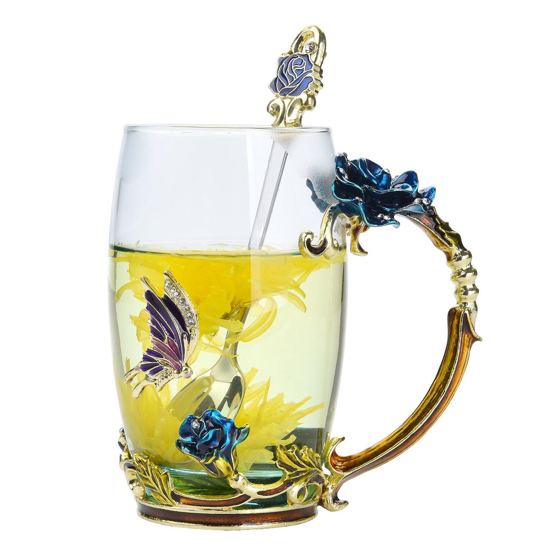 Amazon NBHUZEHUA Glass Coffee Cup Tea Mug Friend Great Birthday Presents Good Mother Day Gifts For In Law Mom Grandma Women Her Girls Kitchen