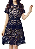 celebritystyle women's navy lace peplum dress knee length See measurements