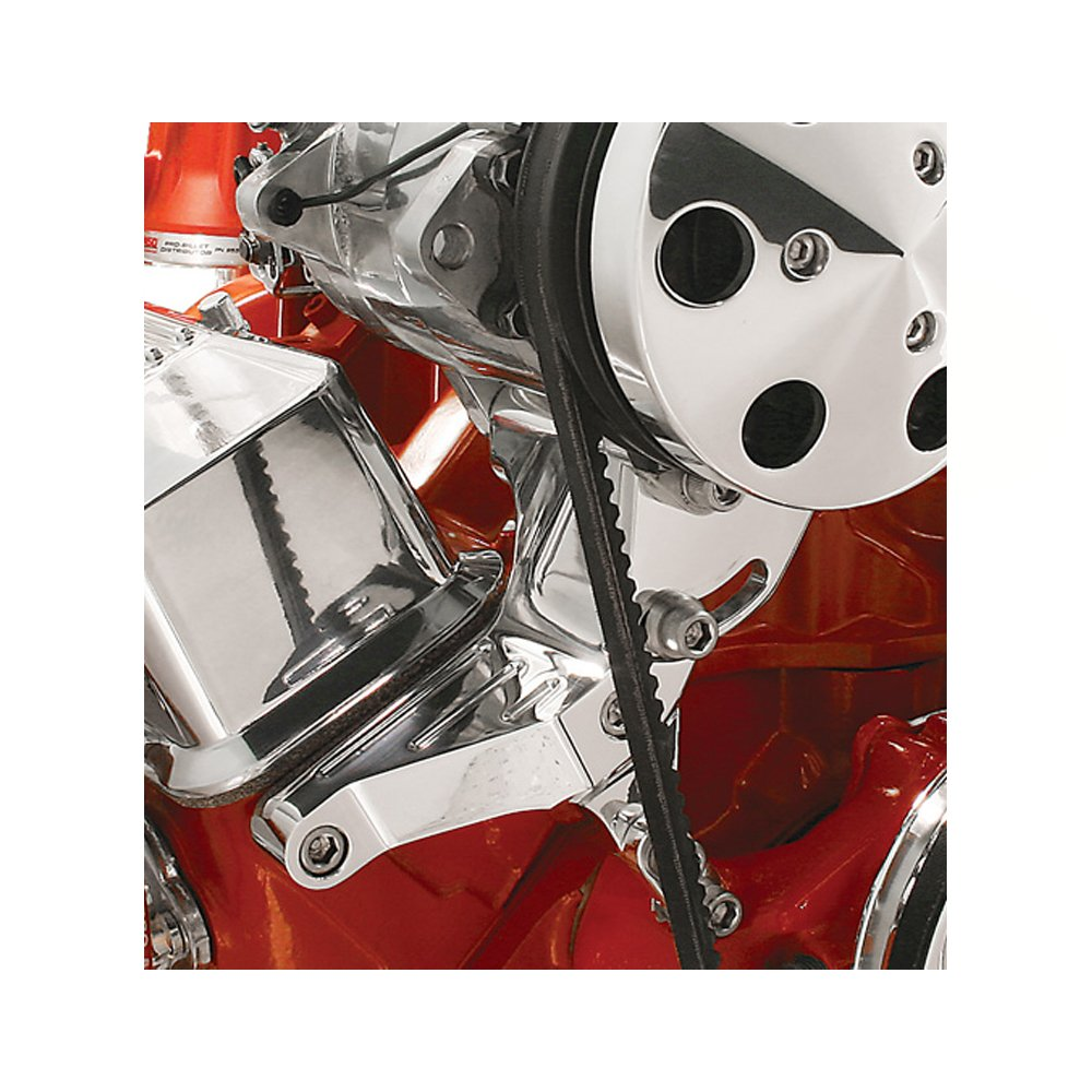Billet Specialties 10221 Independent Passenger Side Top Mount Air Conditioning Compressor Bracket for Small Block Chevy by Billet Specialties (Image #1)