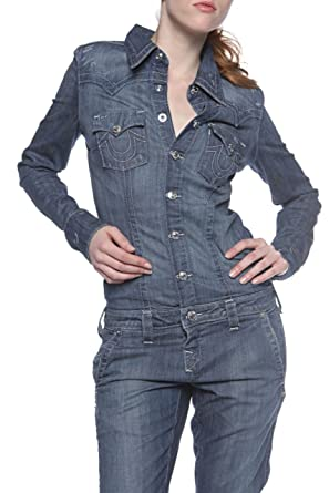 44a2e6c4e3ea True Religion Jump Suit L S KARA DENIM JUMPSUIT Wash  FZM - EXPEDITION