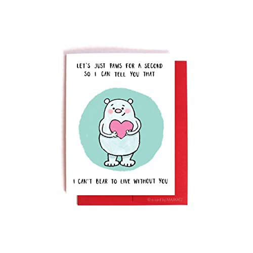 Amazon Com Bear Puns Funny Valentine S Day Card Anniversary