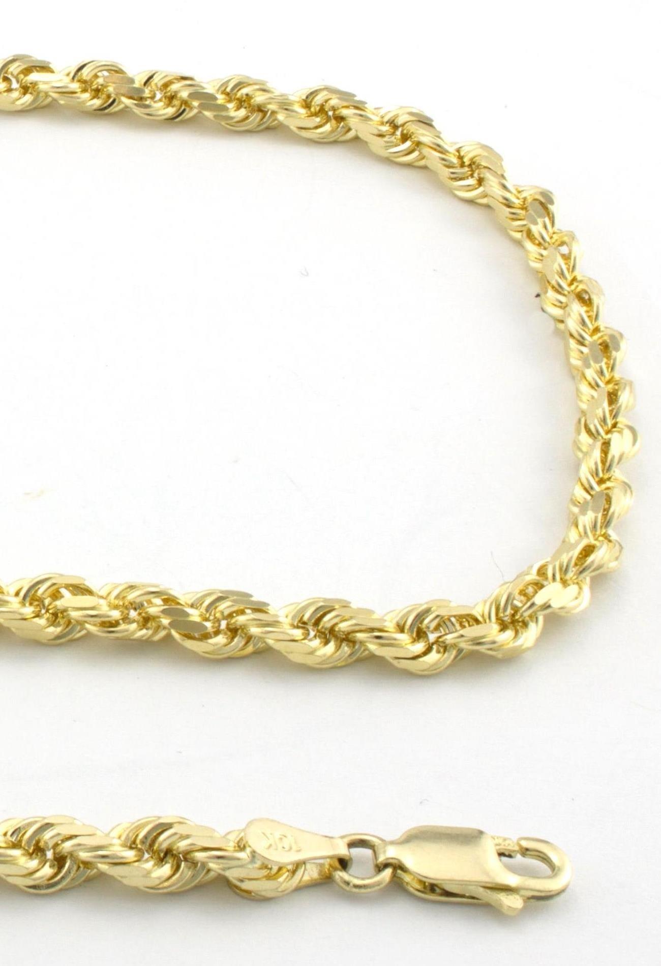 18K Gold 3MM Diamond Cut Rope Chain Necklace Unisex Sizes 16''-30''-22''- 18 Karat Gold by PORI JEWELERS (Image #2)