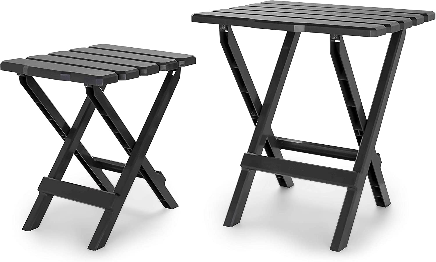 Charcoal Camping Cookouts and More Weatherproof and Rust Resistant Picnics Camco Large Adirondack Portable Outdoor Folding Side Table Perfect for The Beach 21047