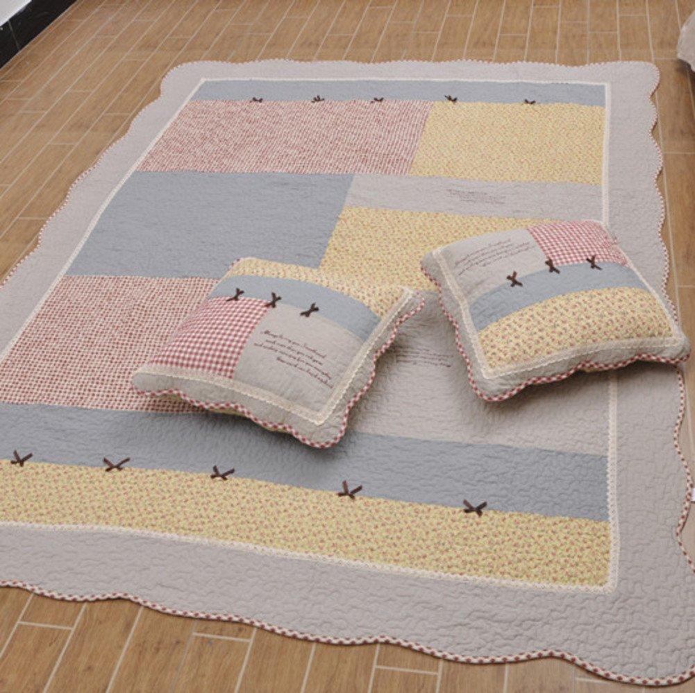 GX&XD 100% cotton Floor lounger cover For Bedroom,Thicken Floor mattress Tatami floor mat Carpet Creeping mats Living room mat-A 200x230cm(79x91inch)