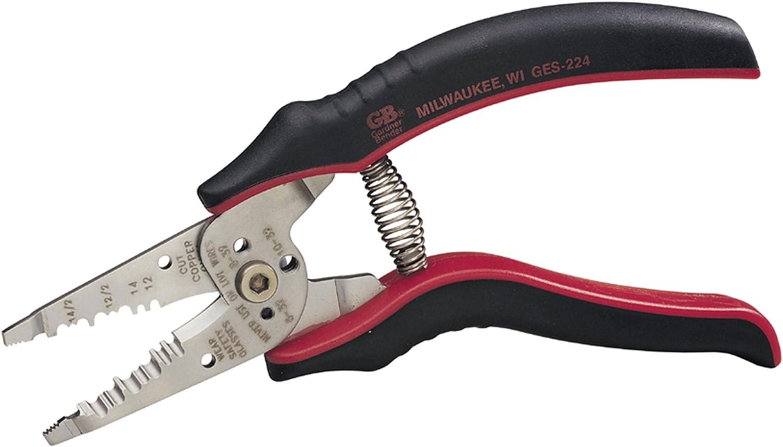 Gardner Bender GESP-70 Professional Grade ArmorEdge 3-in-1 Wire Stripper//Crimper//Cutter Stainless Steel 22-10 AWG