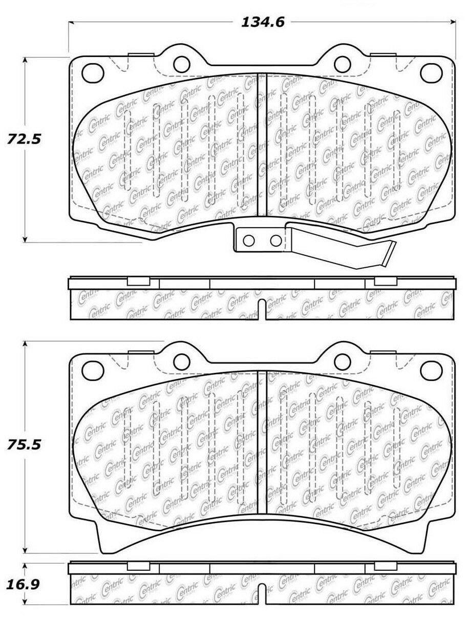 Centric Brake Pad 103.11190 Ceramic