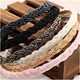 Casualfashion 4Pcs Elegant Women's Beaded Hair Hoop Headband Hair Band Accessories