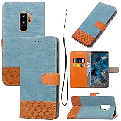 Étui Portefeuille pour Samsung Galaxy S9 Plus,Artfeel Mode Rétro Cowboy Design Premium Souple PU en Cuir Flip Coque avec Fentes pour Cartes Fonction de Support et Fermeture Magnétique Slim Fit Style Livre