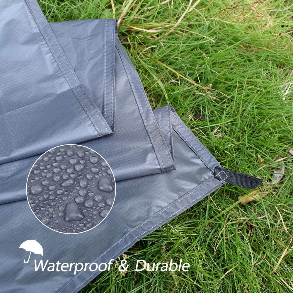 GEERTOP Schutzplane Zeltplanen Zeltunterlage 1-4 Personen 20D leichte wasserdicht f/ür Zelt Wanderungen Camping Picknick