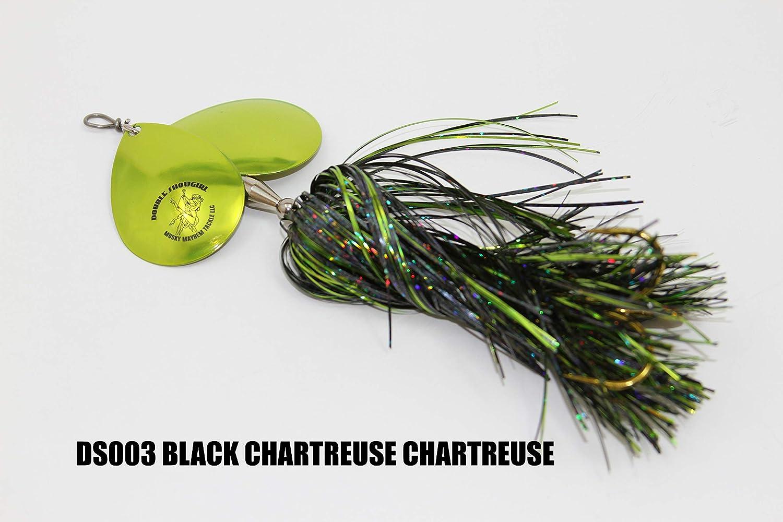Double Blade Bucktail  Musky Pike Bass Spinner bait  Lure Bait Flashabou Skirt