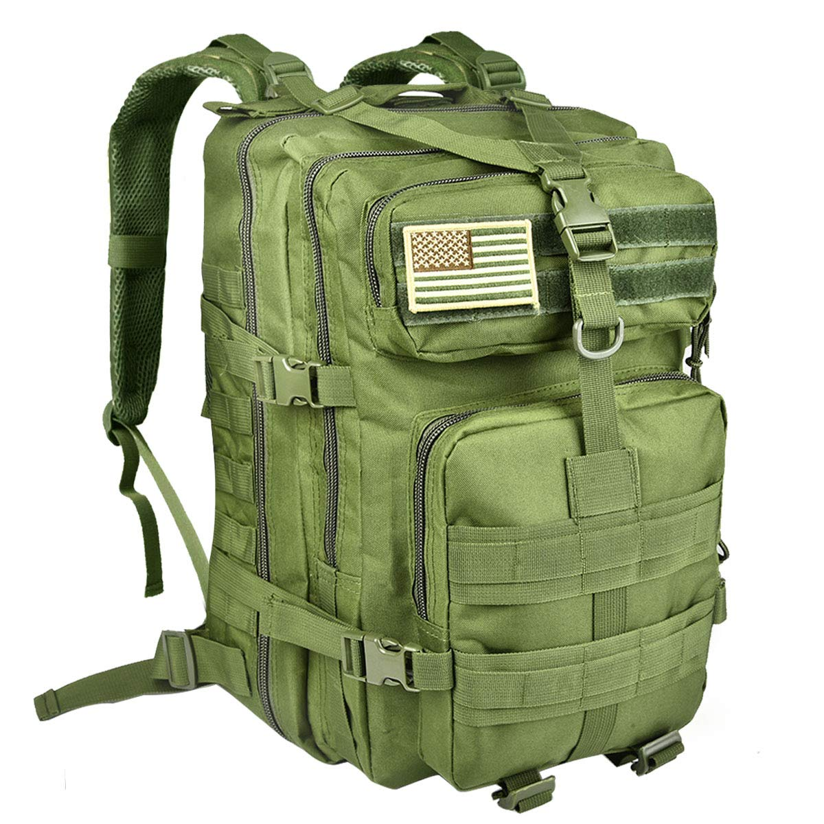 NOOLA 40L Military Tactical Backpack 3 Day Pack Molle Bag Army Rucksack Green by NOOLA
