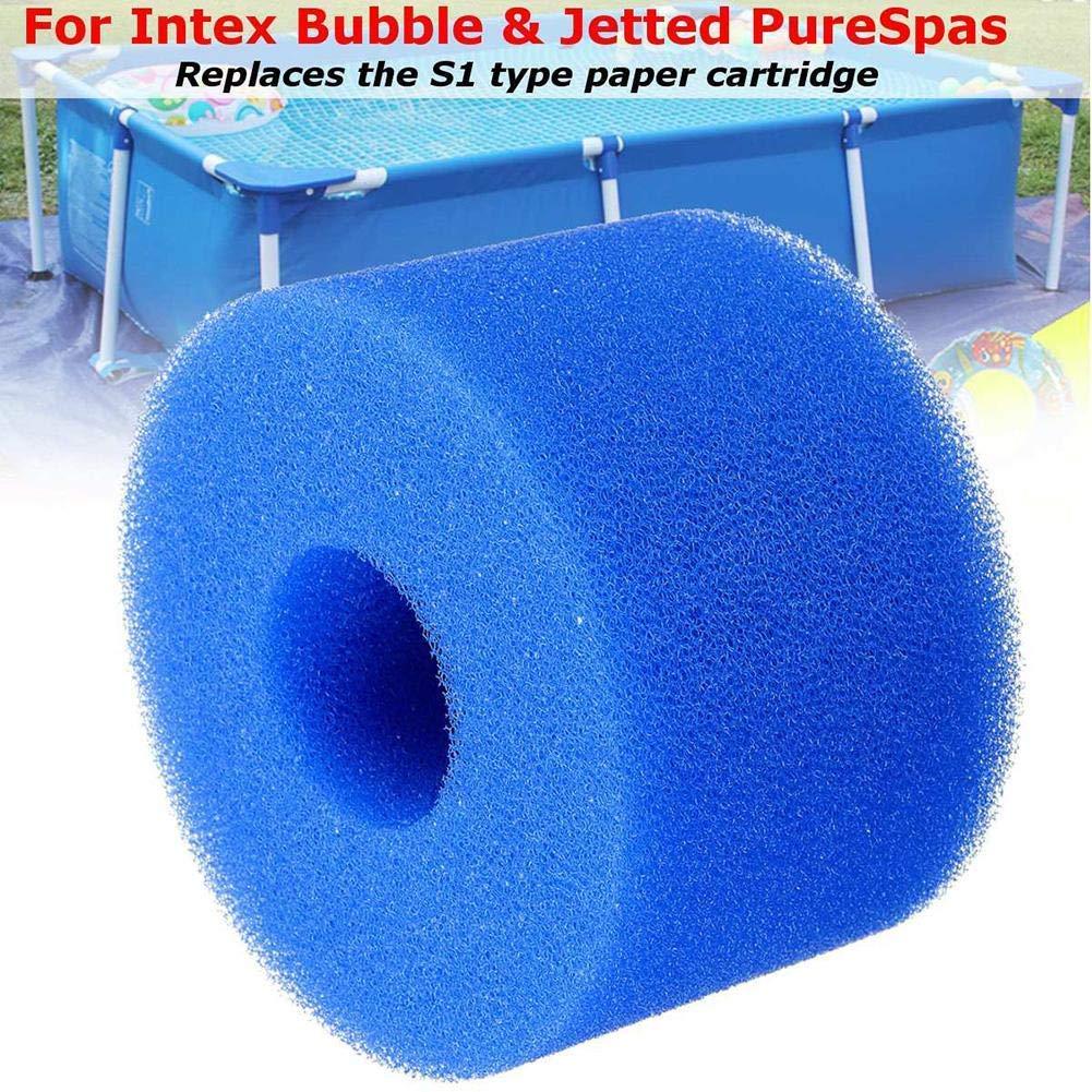 108X40X73MM 99Lamour Cartouche /Éponge Lavable avec Filtre en Mousse pour Piscine pour Intex Type H Convient pour Les Piscines /Éponge De Filtre pour R/éutilisable Rondes