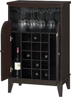 Monarch Specialties I 2545 Cappuccino Finish Bar Cabinet  U003e Source. Baxton  Studio Easton Modern And Contemporary Wood Dry Bar Wine Cabinet Dark Brown