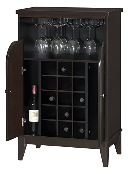 Superieur Baxton Studio Easton Modern And Contemporary Wood Dry Bar And Wine Cabinet,  Dark Brown
