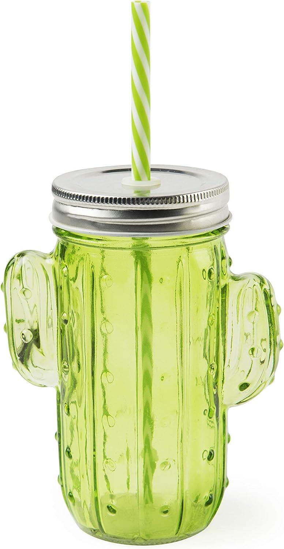 Excelsa Cactus - Vaso con pajita, cristal