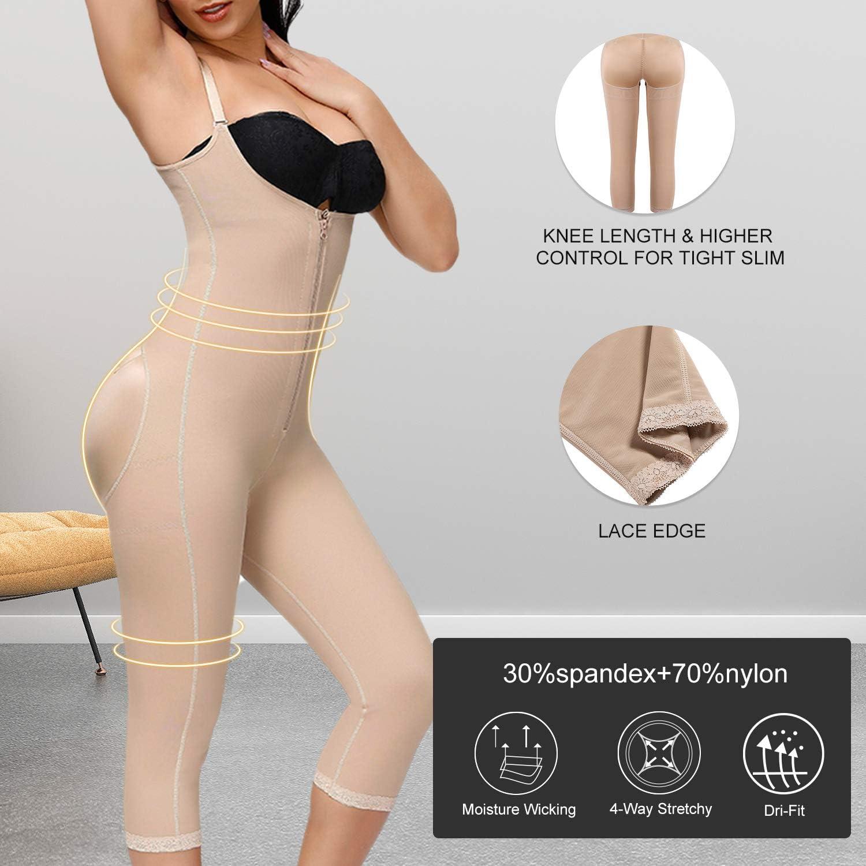 Feelingirl Womens Seamless Firm Triple Control Shapewear Underwear Bodysuit Plus Size