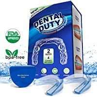 Professional Dental Guard -Pack Of 4- Stops Teeth Grinding, Bruxism, Tmj, & Eliminates Teeth Clenching . Includes Fitting Instructions & Anti-Bacterial Case. Satisfaction Is Guaranteed!