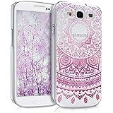 kwmobile Elegante y ligera funda Crystal Case Diseño sol indio para Samsung Galaxy S3 / S3 Neo en rosa fucsia transparente