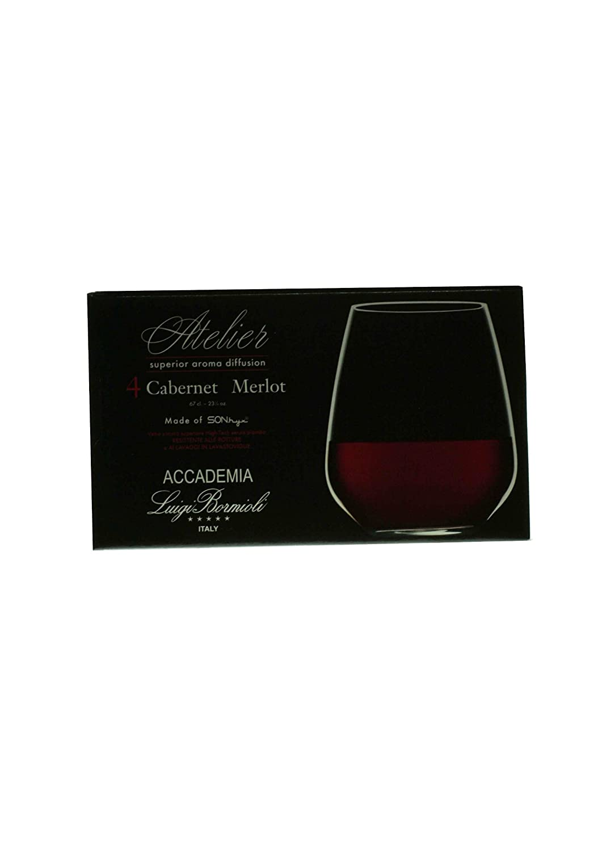 23.25 oz Luigi Bormioli Prestige Stemless Wine Glasses Set of 4 08923//04 10291//01