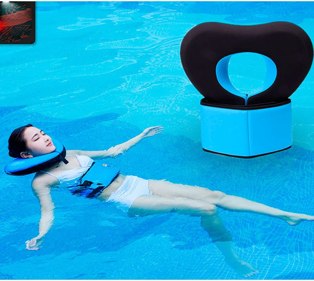 Ueasy Love Heart Shape Neck Support Swimming Pool Float Aqua Aerobics Fitness Water Training Exercises Fun Recreational Pool Toy Fits Adults Teenagers Waist band not included Blue, XL