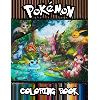 Pokemon Coloring Book: 77 Illustrations, Amazing Jumbo Pokemon Coloring Book For Kids Ages 3-7, 4-8, 8-10, 8-12, Pikachu, Fun, Largest Book 2020 (Pokemon Books For Kids)