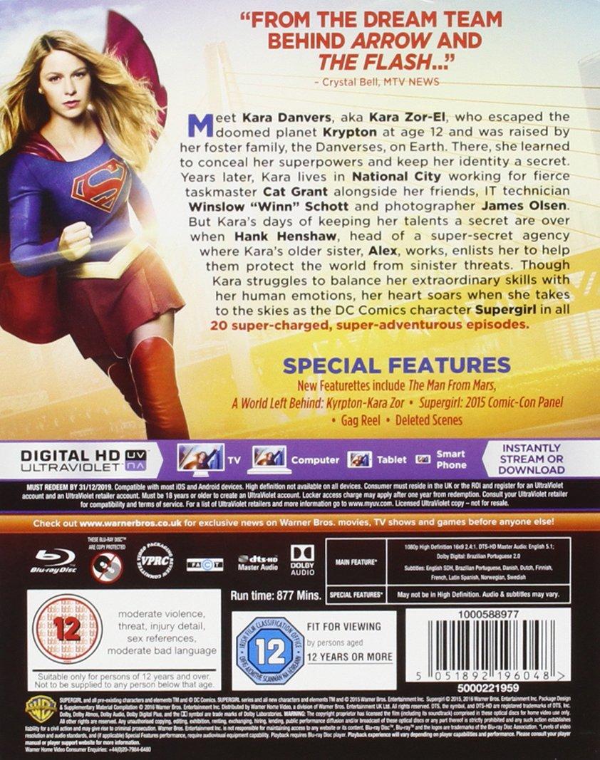 Supergirl - Season 1 Includes Digital Download Blu-ray 2016