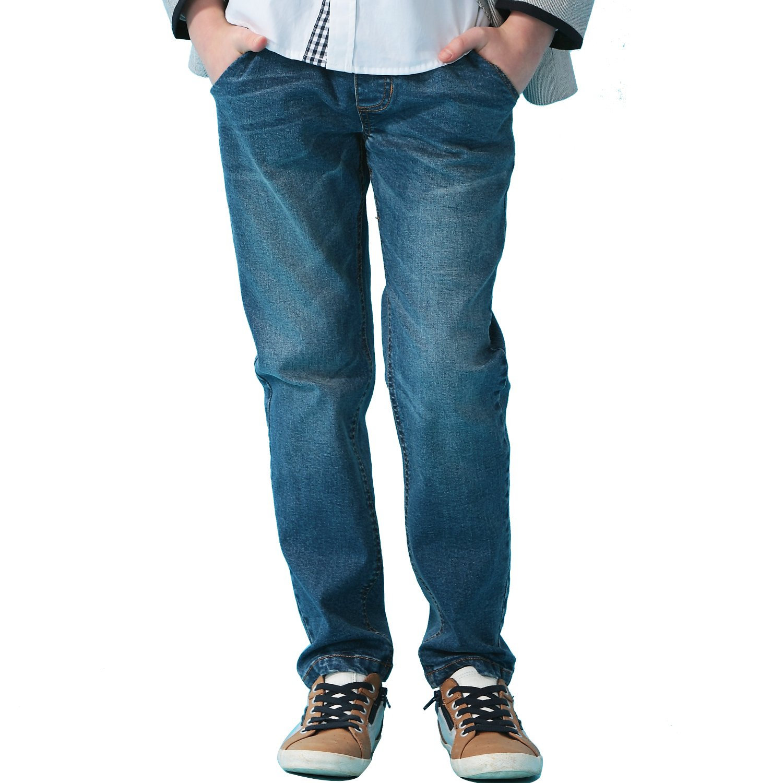 Leo&Lily Boys' Kids' Husky Rib Waist Stretch Denim Jeans Pants (10) by Leo&Lily (Image #2)