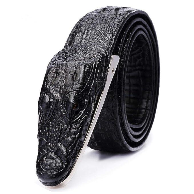 Amazon.com: Cinturones de piel de vaca de lujo para hombre ...