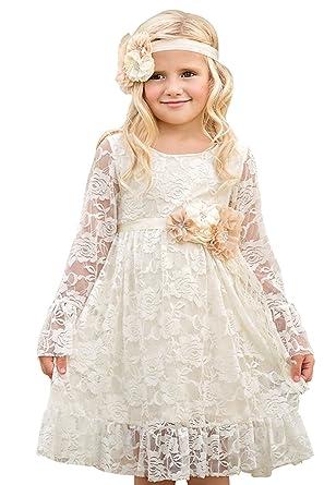 69ce84755ec37 Robe de Fille Enfant de Mariage d Honneur Soirée Princesse Noble Col ...