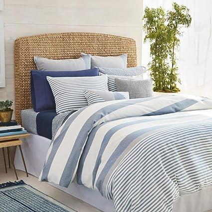 Amazon Com Tl 3 Piece Navy Grey White Nautical Pattern Comforter