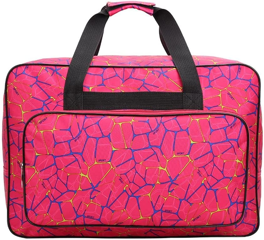 Bolsa para máquina de coser, bolsa de transporte universal de nailon, funda de almacenamiento acolchada universal con bolsillos y asas, nailon, Rose Red, 18.1x12.2x9.4in