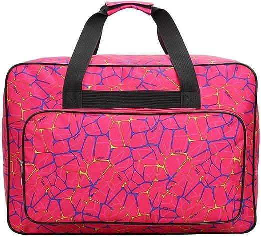 Bolsa para máquina de coser, bolsa de transporte universal de nailon, funda de almacenamiento acolchada universal con bolsillos y asas, nailon, Rose Red, 18.1x12.2x9 ...
