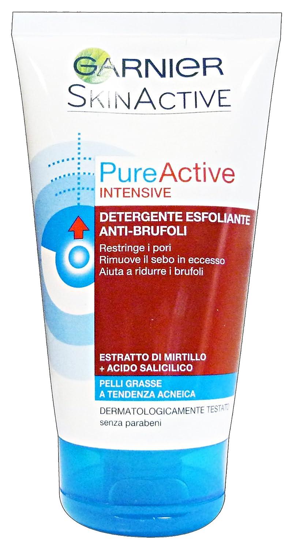 Garnier Pureactive Intensive, Detergente Esfoliante Anti-Brufoli, 150 ml C2777202