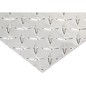 RMP 3003 H22 Aluminum Diamond Tread Sheet, 12 Inch x 36 Inch x 0.063 Inch Thickness, Bright Finish