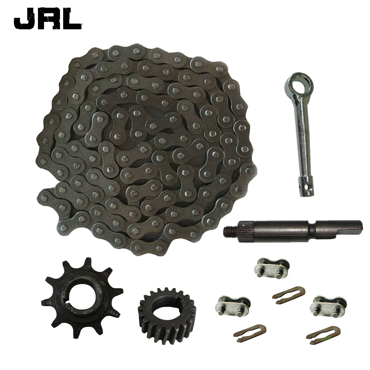 JRL 415 Chain&Drive Sprocket&3xChain Master Link For 49cc 66cc 80cc Motorized Bike King Di
