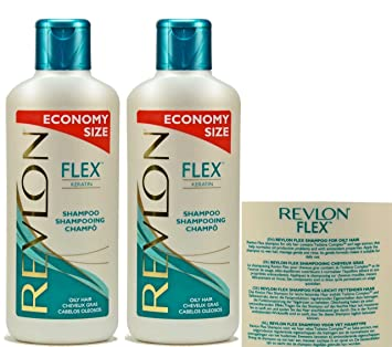 2 x revlon flex shampoo oily hair for greasy hair 650ml bottle