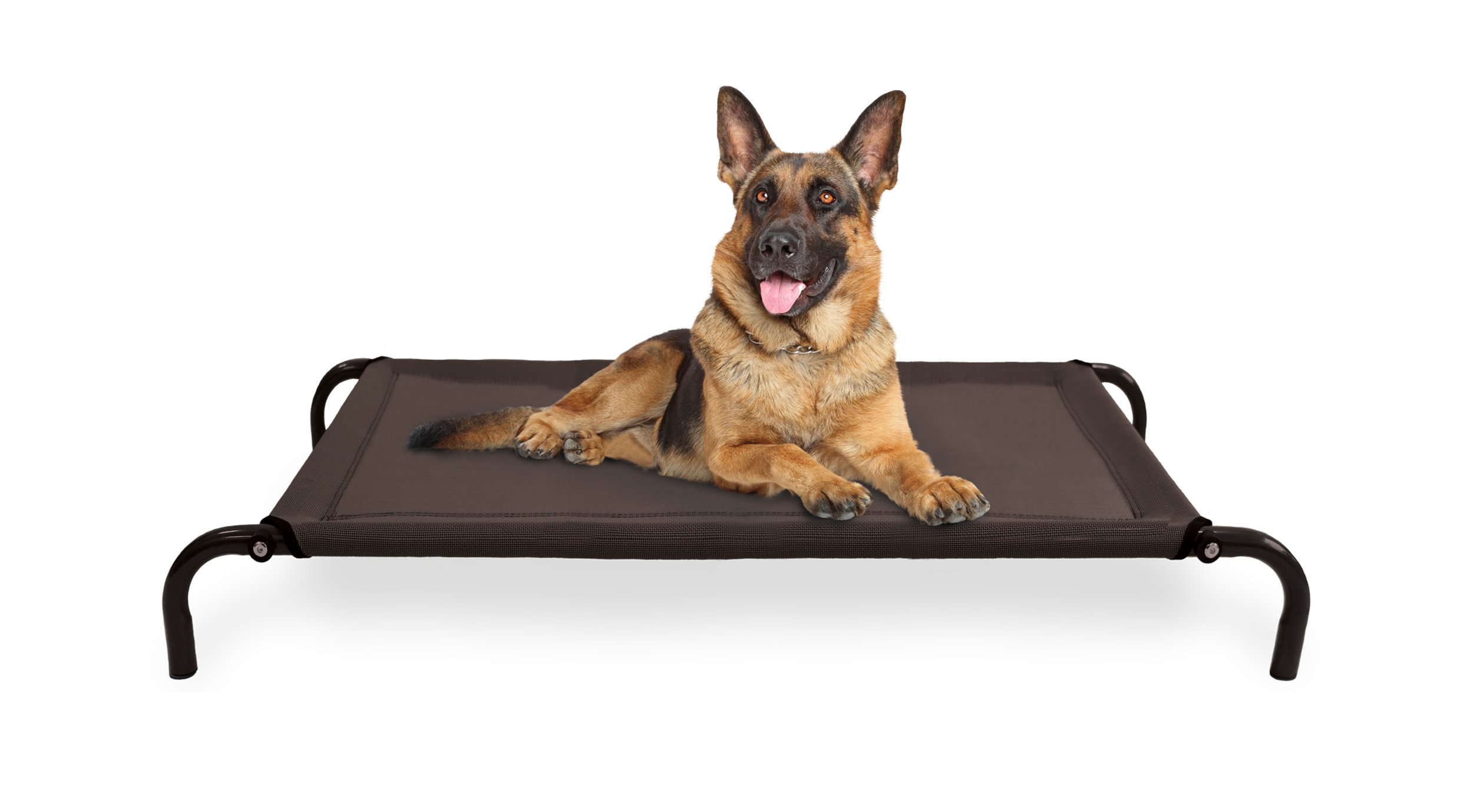 Furhaven Pet Dog Bed | Mold & Mildew Resistant Breathable Cooling Mesh Elevated Pet Cot Bed for Dogs & Cats, Espresso, Large by Furhaven