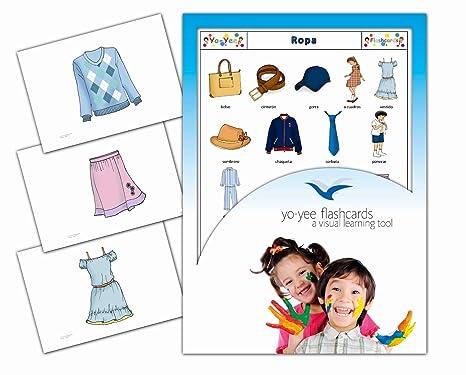 Tarjetas de vocabulario - Ropa - Clothing Flashcards in Spanish
