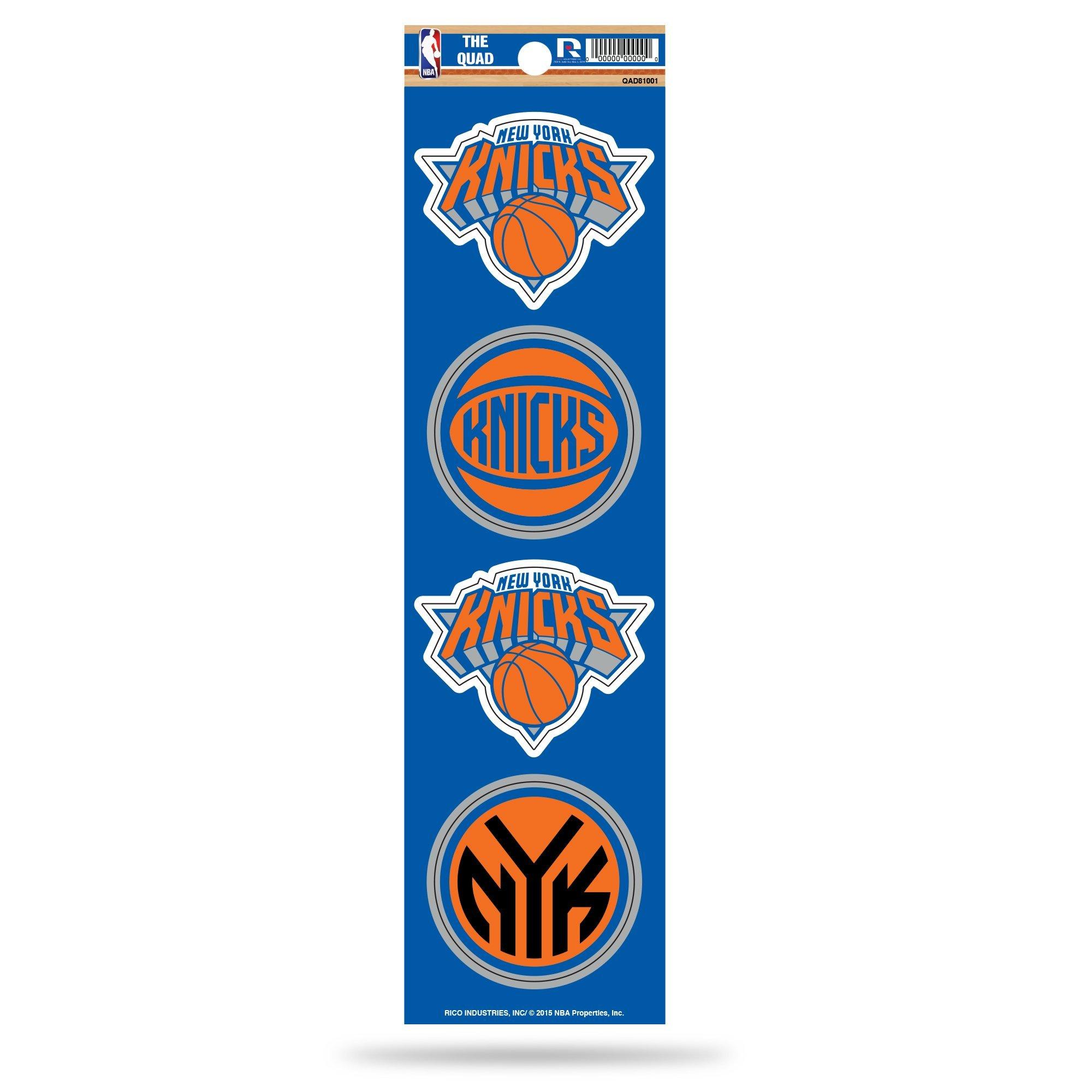 Rico NBA New York Knicks Die Cut 4-Piece The Quad Sticker Sheet