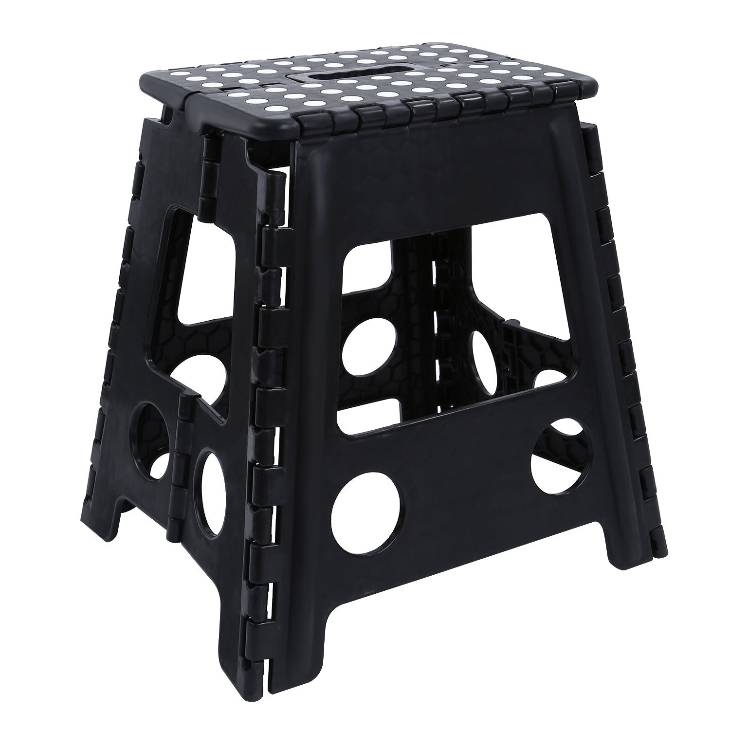 Maddott Super Strong Folding Step Stool for Adults and Kids,11x8.5x15inch, Holds up to 250 Lb, Black