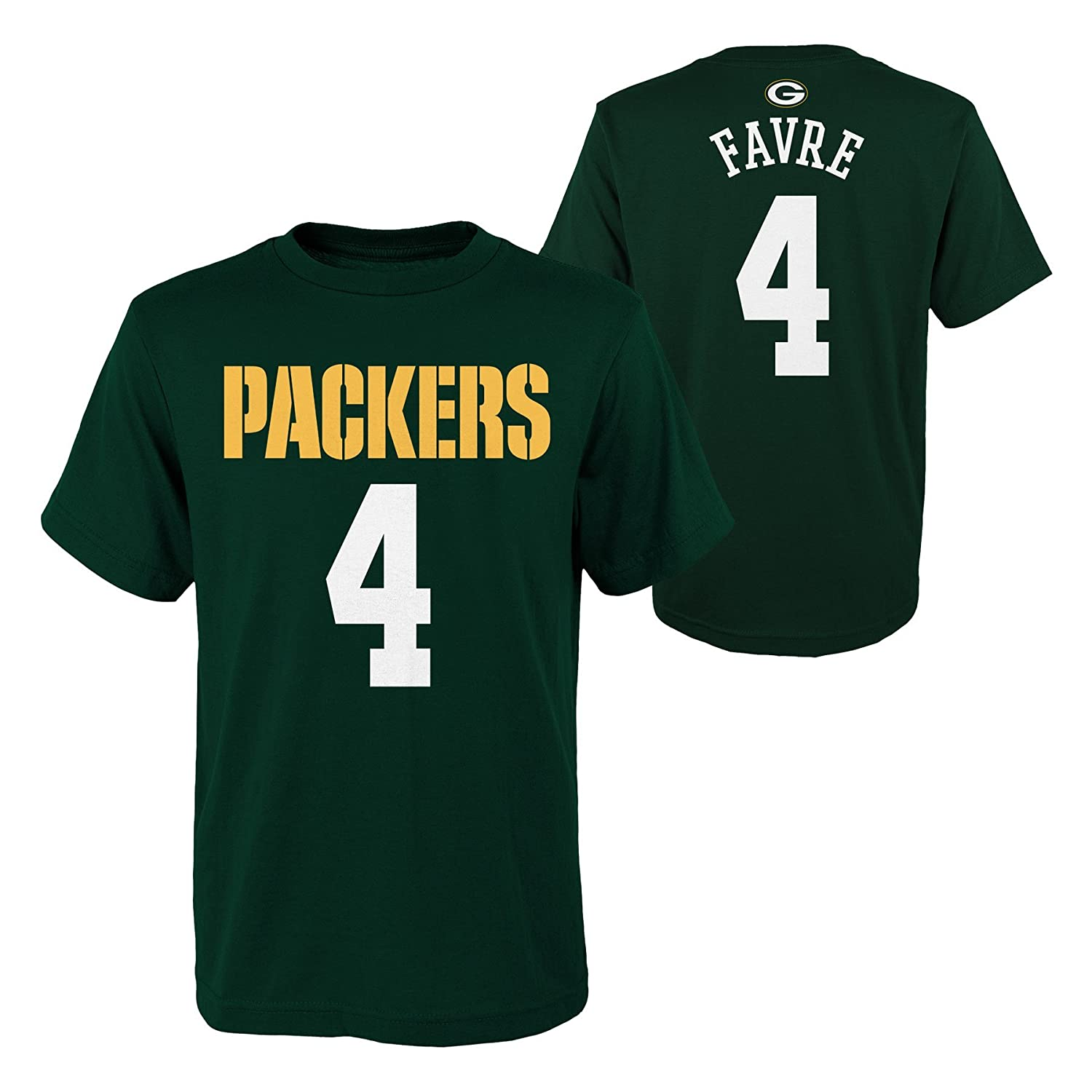 Hunter 10-12 M NFL Green Bay Packers Youth Boys Retired Player Mainliner Name Short Sleeve Tee