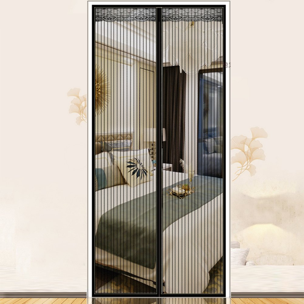 Lace top Magnetic screen door With full frame velcro Reinforced Mosquito curtain Magnetic soft screen door Panel drapes For summer bedroom living room Keep the insect out-H 80x210cm(31x83inch) NVHFSKBGYTGFYRT