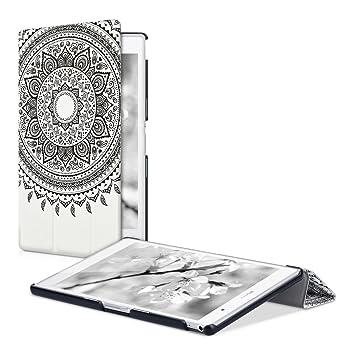 kwmobile Funda compatible con Sony Xperia Tablet Z3 Compact - Carcasa de cuero sintético con tapa magnética y soporte