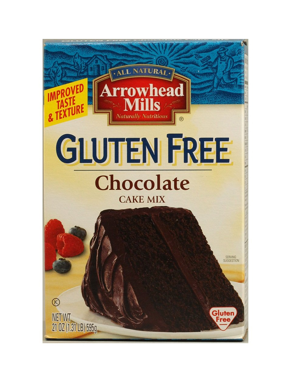 Amazon.com : Arrowhead Mills Gluten Free Chocolate Cake Mix, 21 ...