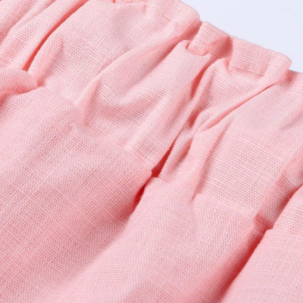 YWLINK 2018 Damen Kleidung,Mode Plus Size Casual Frauen Baumwolle Leinen Einfarbig Shorts Hosen Elastische Taille Sommer D/üNne Dame Hosen