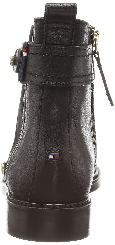 Tommy Hilfiger Holly 3A - Botines Chelsea de Cuero Mujer, Color Negro, Talla 42: Amazon.es: Zapatos y complementos